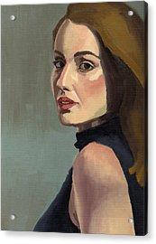 Acrylic Print featuring the painting Portrait Of Rachel Christine by Stephen Panoushek