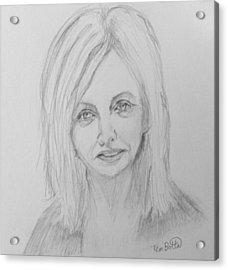 Portrait Of Rhonda Byrne Acrylic Print by Tim Botta