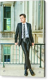 Acrylic Print featuring the photograph Portrait Of School Boy 1504259 by Alexander Image