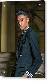 Acrylic Print featuring the photograph Portrait Of School Boy 1504261 by Alexander Image