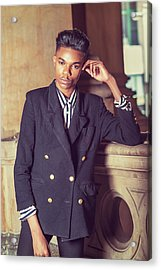 Acrylic Print featuring the photograph Portrait Of School Boy 1504262 by Alexander Image