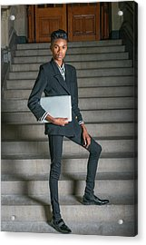 Acrylic Print featuring the photograph Portrait Of School Boy 1504264 by Alexander Image
