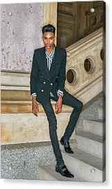 Acrylic Print featuring the photograph Portrait Of School Boy 1504265 by Alexander Image
