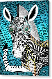 Portrait Of The Artist As A Young Zebra Acrylic Print