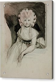 Portrait Of The Artist's Wife Acrylic Print