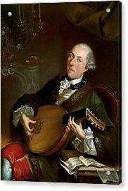 Portrait Of The Composer Filippo Della Casa  Acrylic Print by Luigi Crespi