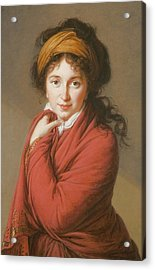 Portrait Of The Countess Nikolai Nikolaevich Golovin Acrylic Print by Elisabeth Louise Vigee-Lebrun