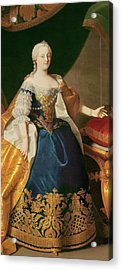 Portrait Of The Empress Maria Theresa Of Austria Acrylic Print by Martin Mytens or Meytens