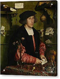 Portrait Of The Merchant George Gisze Acrylic Print