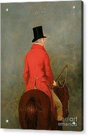 Portrait Of Thomas Cholmondeley Acrylic Print by Henry Calvert