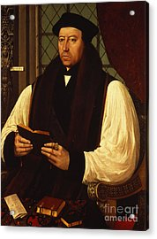 Portrait Of Thomas Cranmer Acrylic Print by Gerlach Flicke
