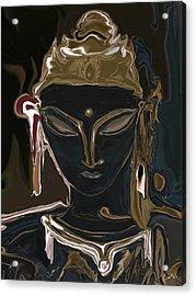 Acrylic Print featuring the digital art Portrait Of Vajrasattva by Rabi Khan