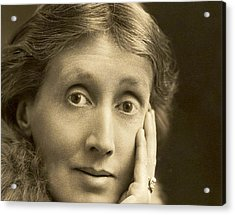 Portrait Of Virginia Woolf, 1927 Acrylic Print by English School
