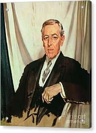 Portrait Of Woodrow Wilson Acrylic Print by Sir William Orpen