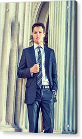 Acrylic Print featuring the photograph Portrait Of Young Businessman 15042512 by Alexander Image