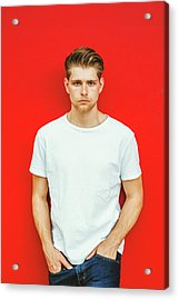 Portrait Of Young Handsome Man Acrylic Print