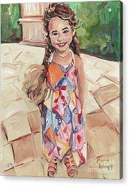 Portrait Painting Acrylic Print