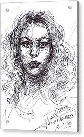 Portrait Sketch  Acrylic Print