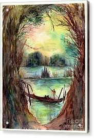 Portrait With A Boat Acrylic Print
