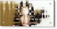 Portrait With Applied Ai  Acrylic Print by Steven Digman