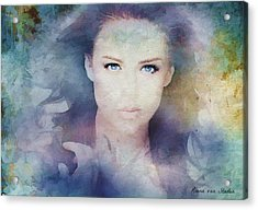 Portrait38 Acrylic Print by Riana Van Staden