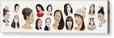 Portraits Of Lovely Asian Women II Acrylic Print