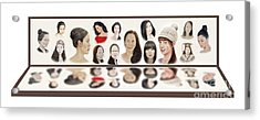 Portraits Of Lovely Asian Women  Acrylic Print