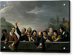 Portraits Of The Inhabitants Of St Jobsgasthuis In Utrecht Acrylic Print by Jan Van Bijlert