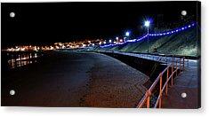 Portrush Seafront At Night Acrylic Print