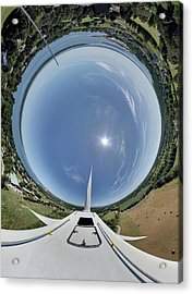 Portsmouth Abbey Wind Turbine Tunnel View Acrylic Print by Christopher Blake