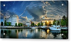 Acrylic Print featuring the photograph Portsmouth Sunset by Williams-Cairns Photography LLC