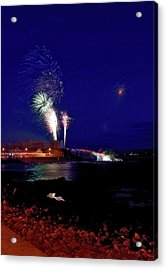 Portstewart Fireworks Acrylic Print