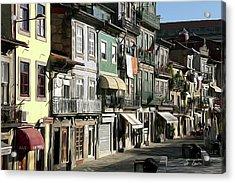 Portugal Cityscape Digital Painting Acrylic Print
