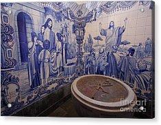Portuguese Azulejo Mural Acrylic Print by Gaspar Avila