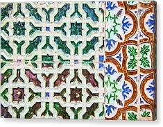 Portuguese Handmade Tile Acrylic Print by David Letts