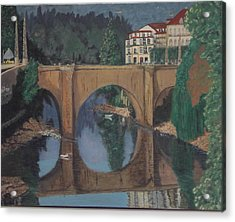 Portuguese River Bridge Acrylic Print