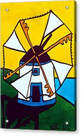 Portuguese Singing Windmill By Dora Hathazi Mendes Acrylic Print by Dora Hathazi Mendes