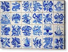 Portuguese Tiles Acrylic Print by Carlos Caetano