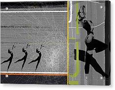 Pose And Jump Acrylic Print by Naxart Studio