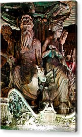 Poseidon And Friends Acrylic Print by Christopher Holmes
