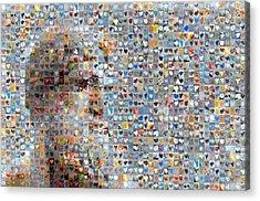Poseidon Acrylic Print by Boy Sees Hearts