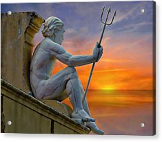 Poseidon - God Of The Sea Acrylic Print