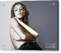 Acrylic Print featuring the photograph Posing For Thought  by Jacob Smith