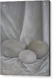 Posing Pebbles Acrylic Print