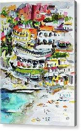 Positano Beach Amalfi Coast Holiday Acrylic Print