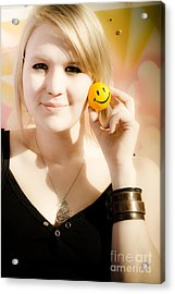 Positive Expression Of Joy And Happiness Acrylic Print by Jorgo Photography - Wall Art Gallery