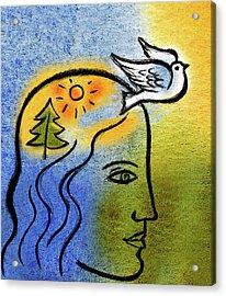 Positive Outlook Acrylic Print by Leon Zernitsky