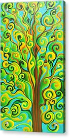 Positronic Spirit Tree Acrylic Print