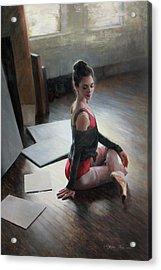 Possibilities Await Acrylic Print by Anna Rose Bain