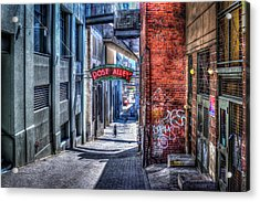 Acrylic Print featuring the photograph Post Alley Straggler by Spencer McDonald